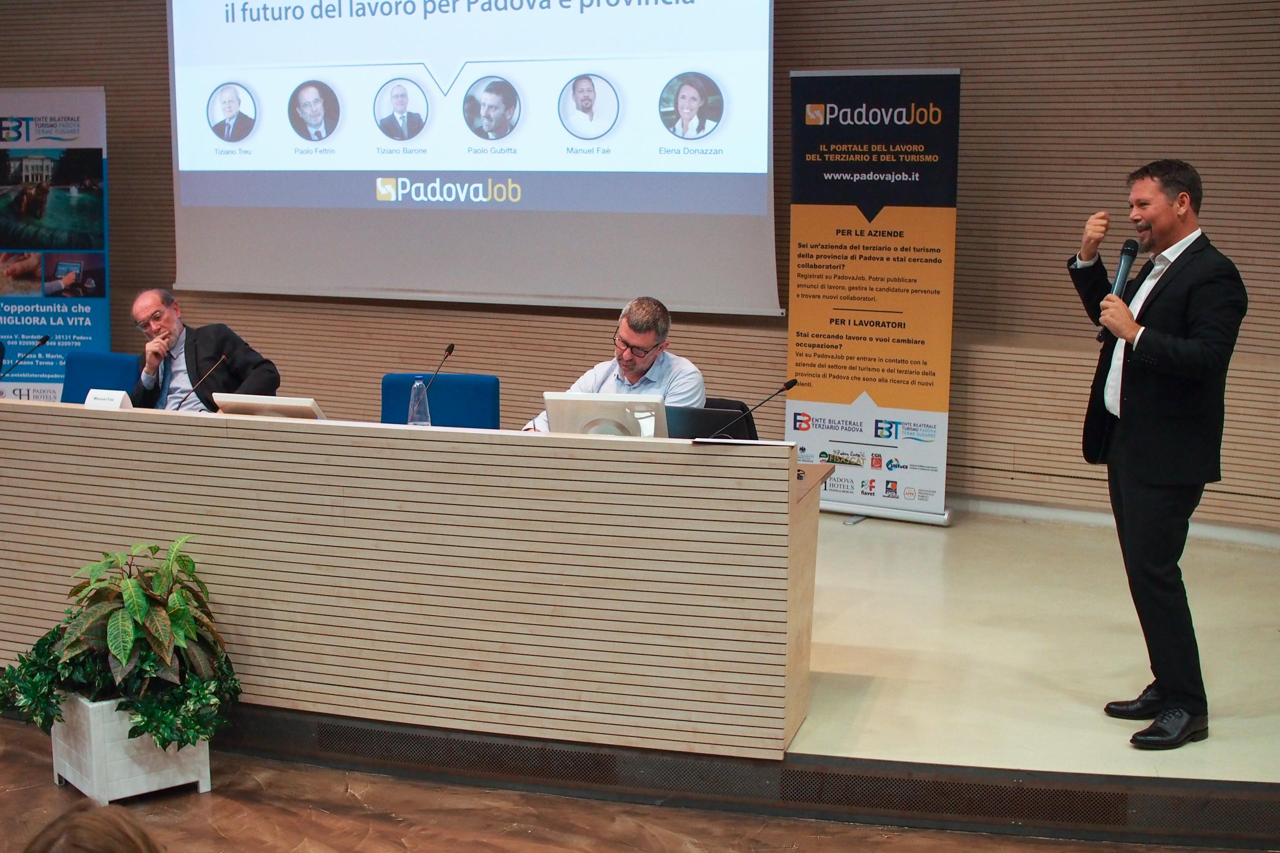 Manuel Faè Paolo Gubitta Paolo Feltrin Convegno Turismo e Servizi Padova